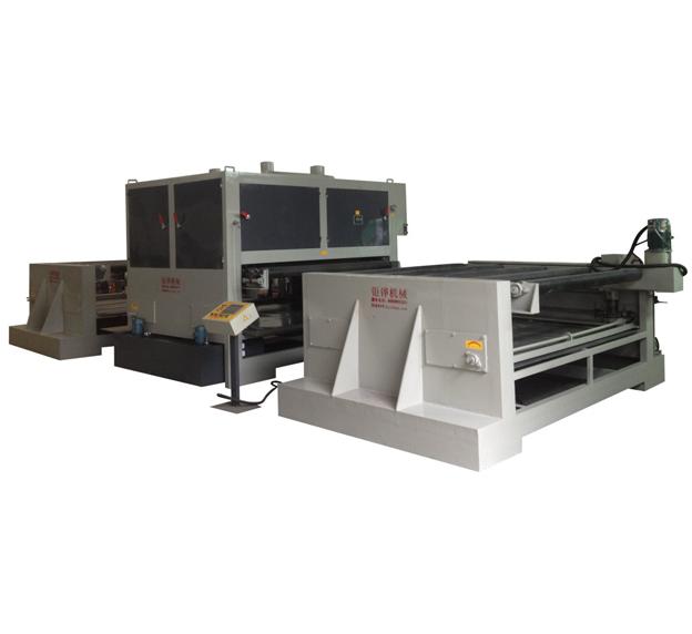 浙江重型板材双砂带自动拉丝机JH-08C150-2S-D