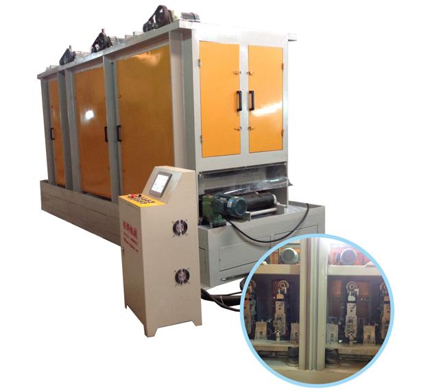 五砂自动板材砂带拉丝机JH-08C340-4S-Z