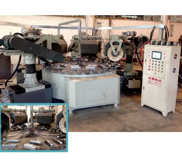 四磨头连续式圆盘抛光机 JH-11C104-4D2
