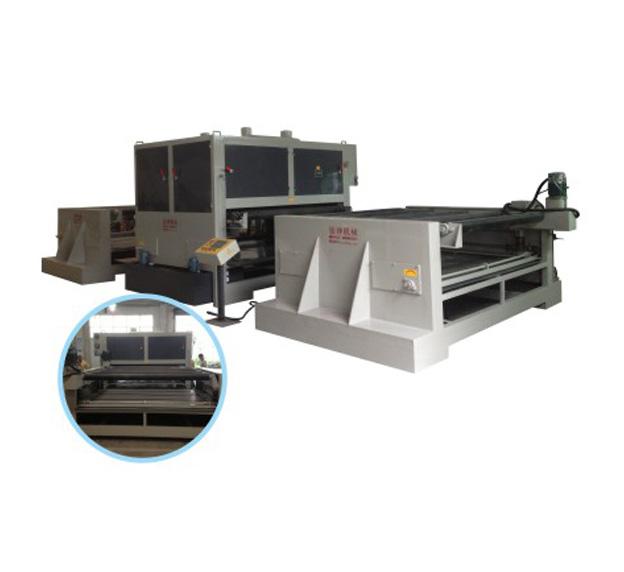 重型板材双砂带自动拉丝机