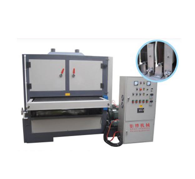 双砂带板材自动拉丝机